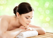 Beautiful, young and healthy woman in a spa salon Stock Photo