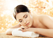 Beautiful, young and healthy woman in a spa salon Stock Image