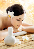 Beautiful, young and healthy woman in a spa salon Stock Photos