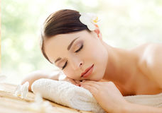 Beautiful, young and healthy woman in a spa salon Royalty Free Stock Image