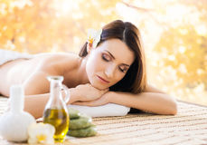 Beautiful, young and healthy woman in a spa salon Royalty Free Stock Photos
