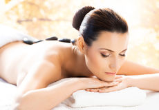 Beautiful, young and healthy woman in a spa salon Royalty Free Stock Photo