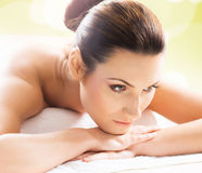 Beautiful, young and healthy woman in a spa salon Royalty Free Stock Photography
