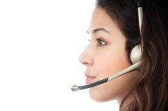 Beautiful young helpdesk operator Royalty Free Stock Photography
