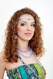 Beautiful young hippie woman smiling Stock Image