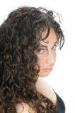 Beautiful young hispanic brunette woman in closeup Stock Image
