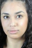 Beautiful Young Hispanic Woman In Closeup Stock Photography