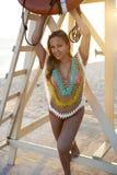 Latina Beauty on Jamaica Beach Stock Images