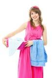 Beautiful young housewife Stock Photo