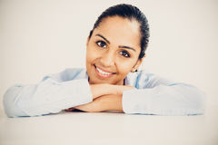 Beautiful young Indian business woman portrait happy smiling Royalty Free Stock Photo