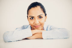 Beautiful young Indian business woman portrait happy smiling royalty free stock image