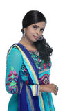 Beautiful young Indian girl in chudidhar Stock Images