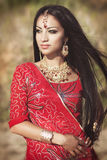 Beautiful Indian woman bellydancer. Arabian bride Royalty Free Stock Photo