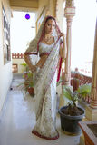 Beautiful young indian woman in traditional clothing with bridal Stock Image
