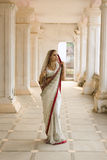 Beautiful young indian woman in traditional clothing with bridal Stock Photo