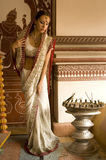 Beautiful young indian woman in traditional clothing Stock Image