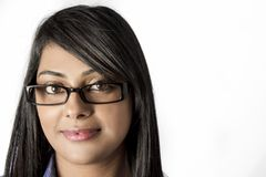 Beautiful young Indian woman wearing glasses Stock Photography