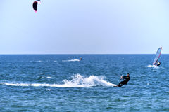 Beautiful young kite surfer Royalty Free Stock Image