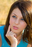 Beautiful young lady. Portrait of a beautiful young lady Stock Photos