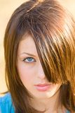 Beautiful young lady. Portrait of a beautiful young lady Royalty Free Stock Images