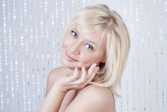 Beautiful young lady with blond hair Royalty Free Stock Photos