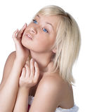Beautiful young lady with blond hair portrait Royalty Free Stock Images