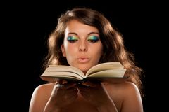 Beautiful young lady with book Stock Image