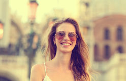 Beautiful young lady cute smiling Stock Photography