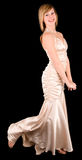 Beautiful Young Lady in an Evening Gown Stock Image