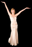 Beautiful Young Lady in an Evening Gown Stock Images