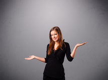 Beautiful young lady juggling with copy space Stock Photos