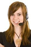 Beautiful Young Lady On The Phone Royalty Free Stock Images