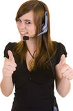 Beautiful Young Lady On The Phone Royalty Free Stock Photos