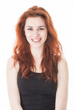 Beautiful young lady with red hair Royalty Free Stock Images