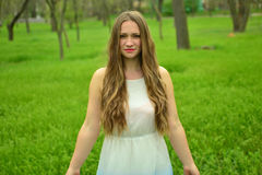 Beautiful young lady. Royalty Free Stock Photography