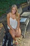 Beautiful young Latina student Royalty Free Stock Image