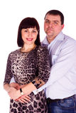 Beautiful young love couple embracing Stock Photos