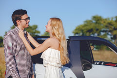 Beautiful young lovers are enjoying their trip Stock Image