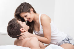 Beautiful young loving couple is resting together Royalty Free Stock Photo