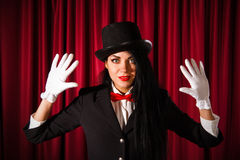 Beautiful young magician Stock Photography
