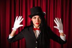 Beautiful young magician Stock Photography