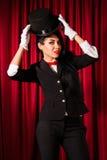 Beautiful young magician Stock Photo