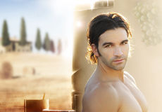 Beautiful young man royalty free stock photo