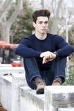 Beautiful young man model autumn / winter Royalty Free Stock Photos
