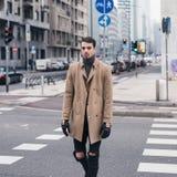 Beautiful young man posing in an urban context Stock Image