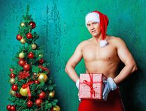 Sexy man Santa Royalty Free Stock Photo