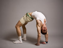 Beautiful young man wearing workout clothes stock images