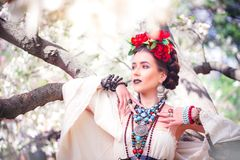 Beautiful young Mexican woman Stock Photos