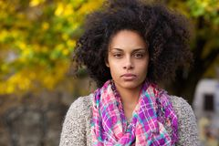 Beautiful young mixed race girl with afro hair Royalty Free Stock Photos