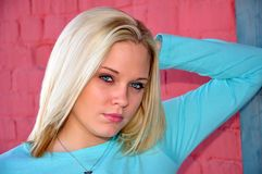 Beautiful young model Stock Images